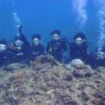 沖縄ダイビング☆2/25 青の洞窟体験ダイビング しおん・たく・とよ