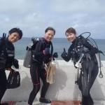 沖縄ダイビング☆5/11 サンゴ体験ダイビング 8時 えりな・しおん・ゆうき