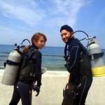 沖縄ダイビング☆5/13 サンゴ体験ダイビング えりな・りょうけん