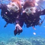 沖縄ダイビング☆ 青の洞窟体験ダイビング 15時半 えりな・ゆうり