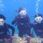 沖縄ダイビング☆ 5/28 青の洞窟体験ダイビング しおん・ゆうり