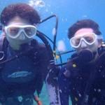 沖縄ダイビング☆6/29 青の洞窟体験ダイビング 10時半 りょうけん・えりな