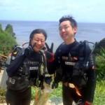 沖縄ダイビング☆ 6/30 青の洞窟体験ダイビング 10時半 ゆうり・しおん