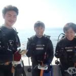 沖縄ダイビング☆10/27 サンゴのお花畑体験ダイビング 13:00 しおん・ゆうき