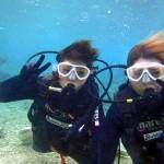 沖縄ダイビング☆1/7  珊瑚体験ダイビング12時 えりな・ゆうり
