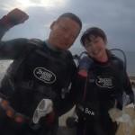 沖縄ダイビング☆1/27 サンゴのお花畑体験ダイビング しおん