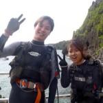 沖縄ダイビング☆7/6 青の洞窟体験ダイビング 8:00 えりな