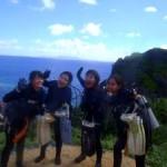 沖縄ダイビング☆7/4 青の洞窟体験ダイビング 8:00 えりな・しおん