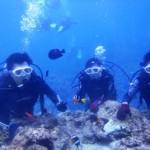 沖縄ダイビング☆9/28 青の洞窟体験ダイビング 13時 しおん・えりな