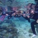 沖縄ダイビング☆11/26 サンゴ礁体験スノーケル 9時 ゆうり なすび ゆうき しおん えりな