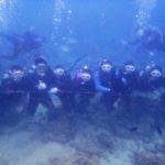 沖縄ダイビング☆2/25 珊瑚礁体験ダイビング 15:00 しおん・なすび・えりな