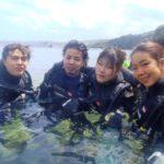 沖縄ダイビング☆3/31  サンゴ礁体験ダイビング 10:30 しおん  たく