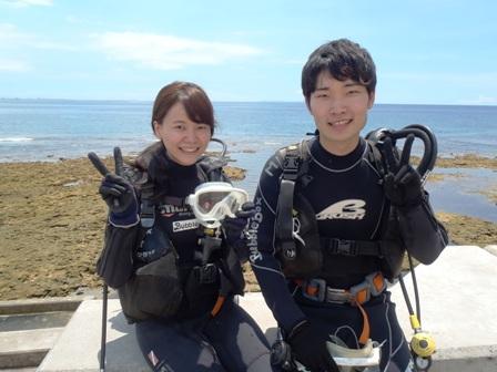 沖縄ダイビング☆7/22  珊瑚礁 体験ダイビング  13:00~  しおん