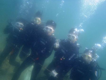 沖縄ダイビング☆7/22  珊瑚礁 体験ダイビング  15:00~  しおん・たく・せいや