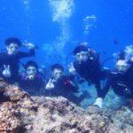 沖縄ダイビング☆8/15  サンゴ礁体験ダイビング  15:00~ しおん・ひろあき