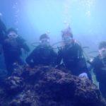 沖縄ダイビング☆8/17 青の洞窟体験ダイビング 15時~ しおん・えりな