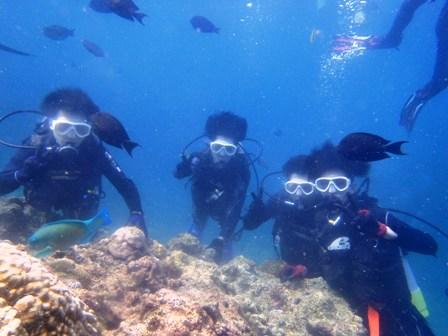 沖縄ダイビング☆8/21 青の洞窟体験ダイビング 15時~ しおん・なすび・しょーた