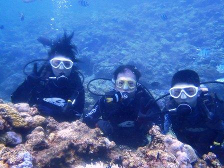 沖縄ダイビング☆8/21  珊瑚礁体験ダイビング   10時半~ しおん・えりな