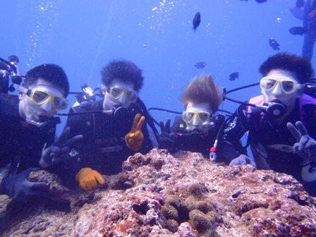 沖縄ダイビング☆3/18  珊瑚のお花畑体験ダイビング   15:00~ なすび・しおん