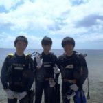 沖縄ダイビング☆3/29  珊瑚のお花畑体験ダイビング   13:00~ なすび・しおん・りさ