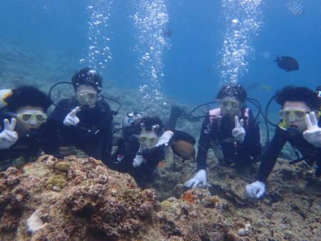 沖縄ダイビング☆6/19 青の洞窟体験ダイビング 15:00~ なすび・しおん