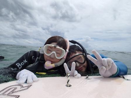沖縄ダイビング☆ 6/18 砂辺サンゴ礁体験スノーケル たく