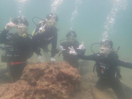 沖縄ダイビング☆ 6/18 砂辺サンゴ礁体験ダイビング しおん・なすび