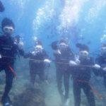 沖縄ダイビング☆7/9  サンゴ礁体験ダイビング 13:00 しおん・たく・とも