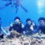 沖縄ダイビング☆7/15 青の洞窟体験ダイビング 13:00~ しおん・えりな