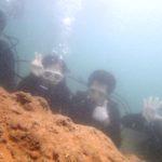 沖縄ダイビング☆7/16 青の洞窟体験ダイビング 13:00~ えりな・たく