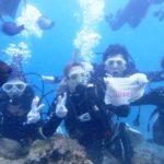 沖縄ダイビング☆8/3 青の洞窟体験ダイビング 13:00~なすび・しおん