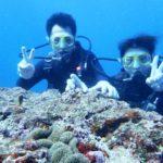 沖縄ダイビング☆8/20 15時半 サンゴ礁体験ダイビング  しおん