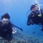沖縄ダイビング☆8/26 青の洞窟ダブルスノーケル+ダブル体験ダイビング 12:00~ なすび・しおん