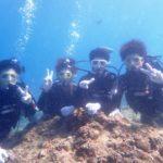 沖縄ダイビング☆9/21 青の洞窟体験ダイビング 12時〜  しおん・えりな