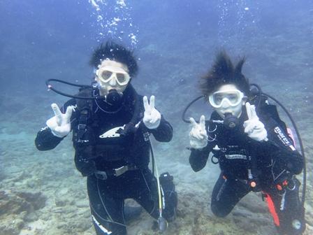 沖縄ダイビング☆ 9/18 珊瑚体験ダイビング 15:00~ とも