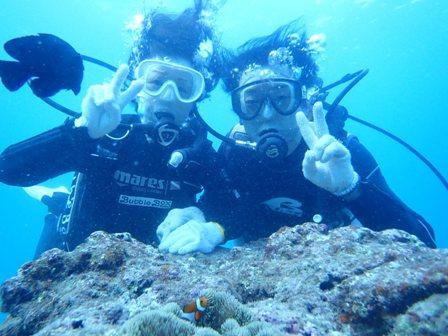 沖縄ダイビング☆10/20 サンゴ礁体験ダイビング  15時半~ しおん
