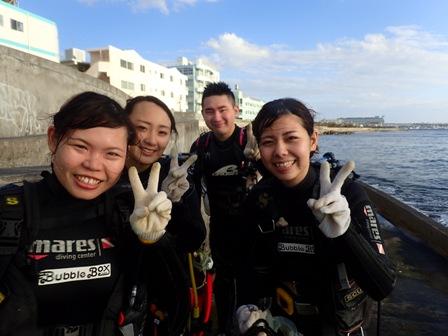 沖縄ダイビング☆10/21 サンゴ礁体験ダイビング 15:00~ なすび・とも