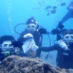 沖縄ダイビング☆11/26 サンゴ礁体験ダイビング 15時半~ しおん・なすび