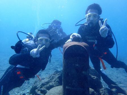 沖縄ダイビング☆12/15 サンゴ礁体験ダイビング2ダイブコース なすび