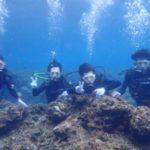 沖縄ダイビング☆3/25 青の洞窟体験ダイビング 10時半~ しおん・とも