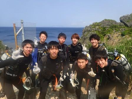沖縄ダイビング☆3/21 青の洞窟体験ダイビング 13時〜 なすび・とも・シオン・ドラ