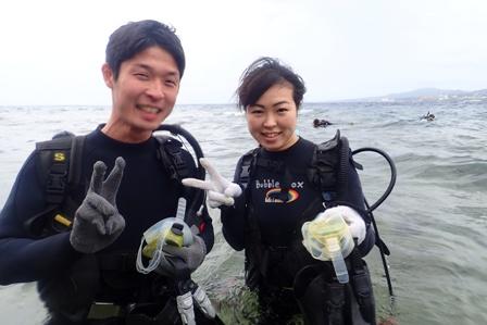沖縄ダイビング☆4/20 青の洞窟体験ダイビング 14:00〜 しおん