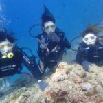 沖縄ダイビング☆5/24 青の洞窟体験ダイビング  15時〜 なすび・しおん・ローラ