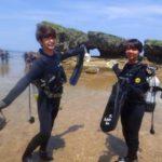 沖縄ダイビング☆6/16 珊瑚礁体験ダイビング うらビーチ 10:00~ しおん・ローラ