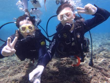 沖縄ダイビング☆7/22青の洞窟体験ダイビング 10:30~ なすび・ローラ