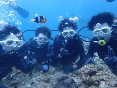沖縄ダイビング☆7/23青の洞窟体験ダイビング 10:30~ なすび・ローラ
