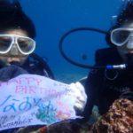 沖縄ダイビング☆7/21青の洞窟体験ダイビング 15:00~ なすび・ローラ