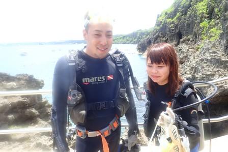 沖縄ダイビング☆7/22青の洞窟体験ダイビング 10:30~ しおん・やす