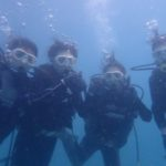 沖縄ダイビング☆8/12 珊瑚礁体験ダイビング 15時~ みーつ・しおん・さっさー