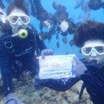 沖縄ダイビング☆8/30 青の洞窟体験ダイビング 10時〜 なすび・ローラ・やす